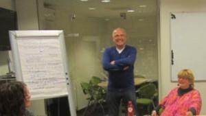 Carla bij workshop Sportservice Zwolle